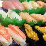 28539135 - 生寿司二人前 1315円のアップ 【 2014年6月 】3
