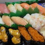 28539163 - 生寿司二人前 1315円のアップ 【 2014年6月 】4