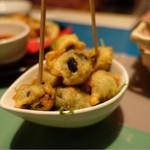 バル de Ricotta - 肉詰めオリーブのフライ