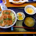 二代目 勝烈亭 - ソースカツ丼(大盛)& 生たまご