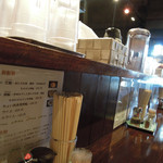 藤堂 - カウンター上の様子