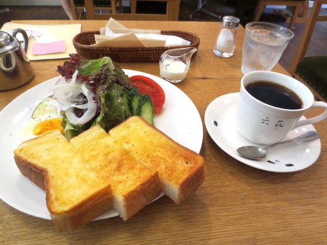 喫茶 六花 - Bモーニング¥600(サラダ、珈琲付き)