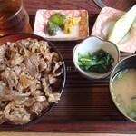 末広 - 牛丼(550円)※税別
