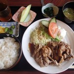 末広 - 水曜の日替わり定食、豚カルビ炒め(500円)※税別