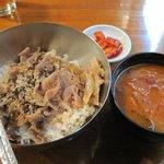 トォンデジ - 豚プルコギ丼+ユッケジャンスープ