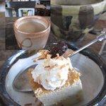カフェ コルリ - ランチのドリンクセットのチャイ&デザート