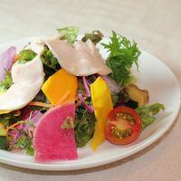 ヒラタパスタ - 1番人気!10種の野菜の彩りサラダ
