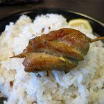 スープカレー スアゲ2 - パリパリ知床鶏のアップ