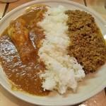 KAMMO Curry+Cafe Asakusa - 2種のカレーのハーフ&ハーフ 1000円