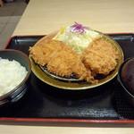 28554136 - ロースかつ&ひれかつ定食