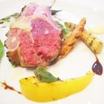リストランテ ウミリア - 季節のおまかせコースより 仔羊背肉のグリリア