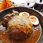 オニオン座 - 特製チキンカレー(Aセット+半熟酢たまご)
