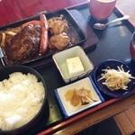 庄楽 - 料理写真:ミックスグリル定食(970円)