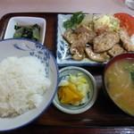 辰の子食堂 - <'14/06/26>豚ロース生姜焼き定食
