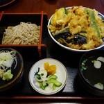 かよう亭 - 天丼ミニそばセット