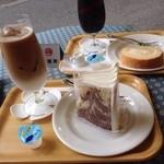 ミヤハラ - シフォンケーキとアイスカフェラテ