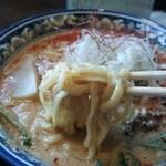 麺屋 極一 - 背脂担々麺の麺