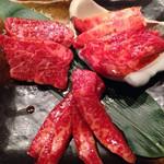 炭火焼肉 ごえ門 - 神戸牛3種盛り合わせ
