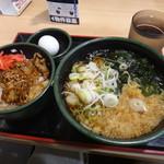 ゆで太郎 - そば屋の豚丼セットと温泉卵