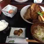 28576442 - 鯛のカブト煮定食 500円(≧∇≦)6/22放送のPS3世で観ました。1日10食限定で、今日6/28までやってました♫