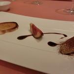 ミチノ・ル・トゥールビヨン - 鮎のリエット ティラミス風 なんとチョコレートのパウダーが絶妙