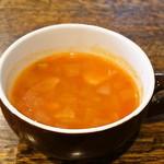タベルナ サクハタ - 本日のスープ(ミネストローネ)具材沢山だけど、シンプルな味わい