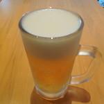 28582512 - 卵かけ丼より高いビール中ジョッキー(550円)