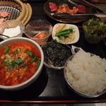 焼肉 名門 - 【ランチ】ユッケジャンスープセット