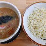 健勝軒 - つけ麺(中)玉ねぎ入りたれ増し