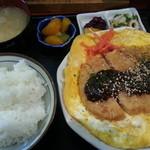 インスタントラーメンさくら - 玉子かつ皿(880円)