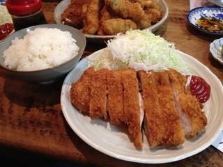 楽天 - ロース定食