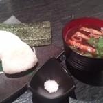 酒肴旬漁 狸穴 - 赤だしと塩むすび