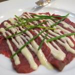 トスカーナ - ジビエ 馬肉のカルパッチョ
