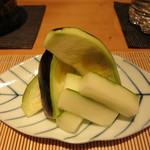 栞庵 やましろ - 水茄子と瓜の香の物