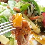 鏡池どんぐりハウス - 玉子と野菜・チーズのガレット