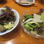 わびすけ新寮 - 海藻サラダ 新玉葱とビーンズのサラダ