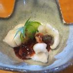 わびすけ新寮 - スズキの葛とじ梅あんかけ(冷製)