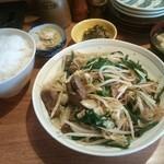 28599991 - レバニラ炒め定食