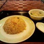 龍花門 - 五目炒飯。とき玉子スープ付き。