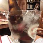 万両 南森町店 - 瓶ビール 水冷
