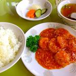 中華料理 津園 - エビチリ ランチ