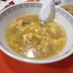 餃子会館 - 玉子スープ