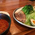 28604764 - 並つけ麺+野菜増+煮玉子
