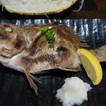 福浦漁港 みなと食堂 - お楽しみ定食 2,000円の焼魚