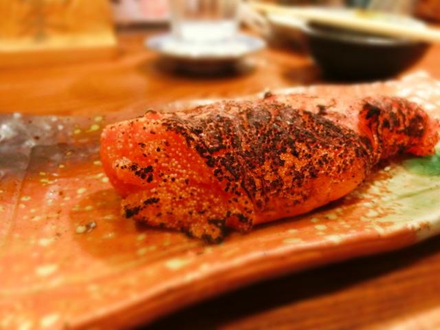 櫛羅 - 明太子炙り、これも美味いぞ~~。