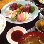 28608834 - サービス定食のひとつ刺身定食790円 (2014-06)