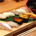 廻転 とやま鮨 富山きときと空港店 - 上にぎり寿司