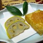 日本料理 さか本 - 辛子れんこん+豆腐の味噌漬け