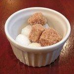 ブラッスリーぺルル - Aランチ 1500円 の角砂糖