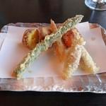 天ぷら豊樹 - 野菜天2